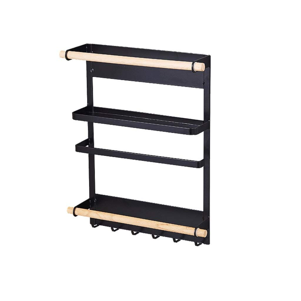 Qkefegfkgr Storage Shelf - Storage Cupboard Paper Towel Wall Tray Waste Iron Storage Hook, Kitchen Storage and Storage of Various Items (Color: Black, Green: 27.5 7.5 34cm) by Qkefegfkgr (Image #1)