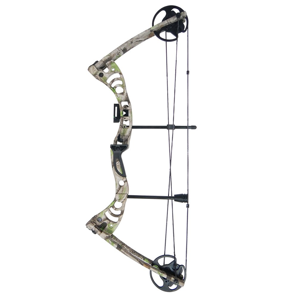 iGlow 30-55 lbs Tree Camouflage Camo Archery Hunting Compound Bow 175 150 70 55 40 30 lb Crossbow