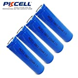 ICR18650 LI-ion Rechargeable Battery 3.7V 2200mAH 18650 Battery Flat Top No Plate 4pcs