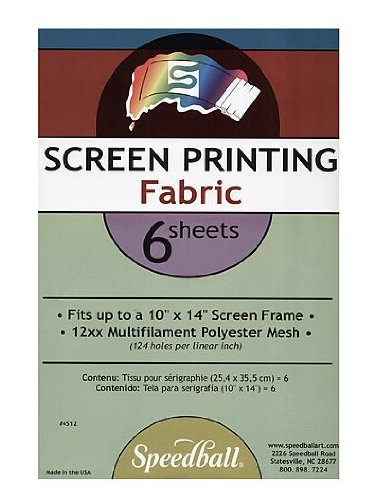 Speedball Multifilament Polyester Screen Fabric pack of 6