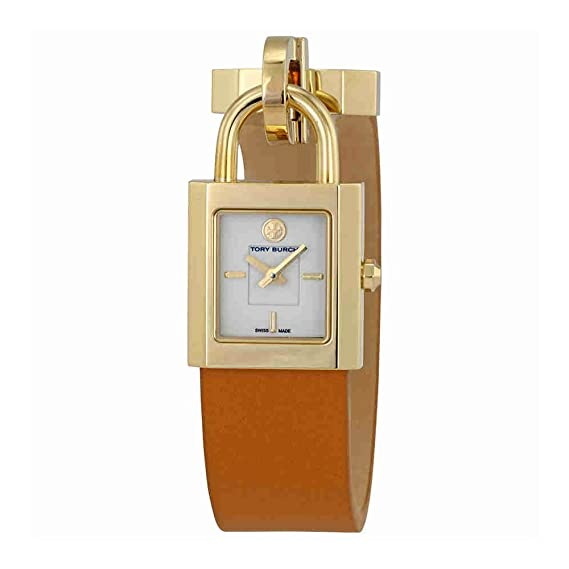 46c3a3e7f87 Tory Burch Surrey Ivory Dial Luggage Leather Ladies Watch TRB7001   Amazon.ca  Watches