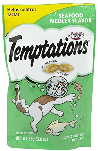 Whiskas Classic Temptations - Seafood Medley 3 Ounce ( Case of 12 ) by Whiskas