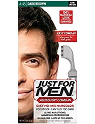 Just For Men AutoStop Men's Comb-In Hair Color, Dark Brown