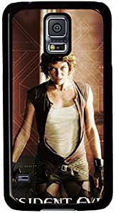 Resident Evil Extinction Milla Jovovich Cases for Samsung Galaxy S5 I9600 with Black Skin