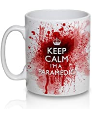 Keep Calm I M A Paramedic Bloody Tea Cup Coffee Mug By Uglymug