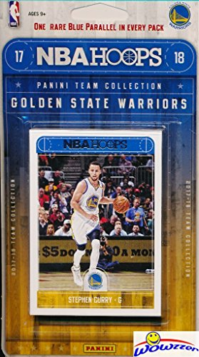 Golden State Warriors 2017/18 Panini Hoops NBA Basketball EXCLUSIVE Factory Sealed Limited Edition 11 Card Team Set with STEPHEN CURRY, KEVIN DURANT & Many More! Shipped in Bubble Mailer! (Nba Mint)