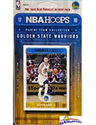 Golden State Warriors 2017/18 Panini Hoops NBA Basketball EXCLUSIVE Factory Sealed Limited Edition 11 Card Team Set with STEPHEN CURRY, KEVIN DURANT & Many More! Shipped in Bubble Mailer! WOWZZER!