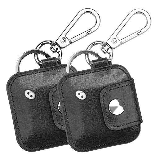 - Fintie (2 Pack) Case with Carabiner Keychain for Tile Mate, Tile Pro, Tile Sport, Tile Style Key Finder Phone Finder, Anti-Scratch Vegan Leather Protective Skin Cover, Black