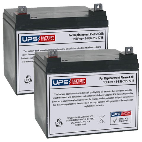 Price comparison product image (2) 12V 35Ah NB - Replacement battery set for Quickie P120 by UPSBatteryCenter