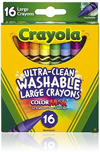 Crayola Ultra-Clean Washable Crayons, Bulk Set, 12 Packs of 16 ()