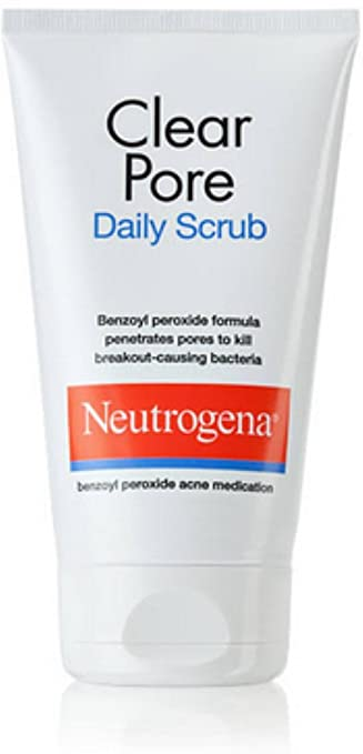 Neutrogena Clear Pore Daily Scrub 4.20 oz (Pack of 3) InstaNatural Vitamin C Facial Cleanser - Anti Aging, Breakout & Wrinkle Reducing Face Wash for Clear & Reduced Pores - Organic & Natural Ingredients - Oily, Dry & Sensitive Skin - 6.7 OZ