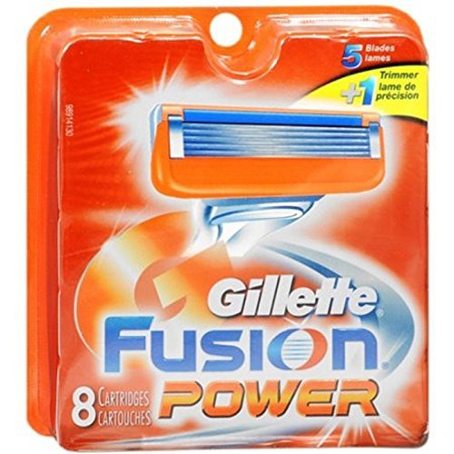 Gillette Fusion 5 Power Cartridges 8 ea (Packaging May Vary)