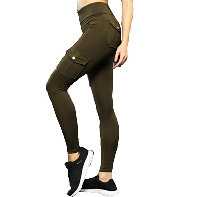 Baovery Eco-Friendly Bamboo Pockets Stretchy Soft Yoga Leggings Pants