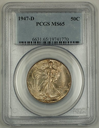1947 D Walking Liberty Half Dollar MS-65 PCGS