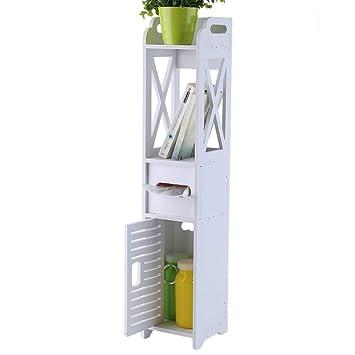 hongyans meuble wc etagre bois plastique gain de place pour toilette blanc
