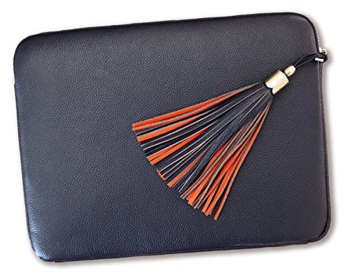 BfB Laptop Case - 15 Inch Laptop Sleeve - Luxury Designer Genuine Leather Macbook Pro 15 Inch Case - Ultrabook Notebook Laptop Carrying case for 14