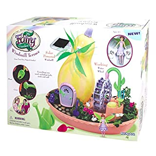 My Fairy Garden Windmill Terrace Solar Power Playset -- Grow Your Own Magical Garden!