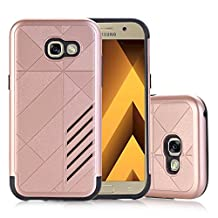 MOONCASE Galaxy A5 2017 Case Hybrid Armor Tough Rugged [Anti Scratch] Dual Layer TPU +PC Frame Protective Case Cover for Samsung Galaxy A5 2017 Rose Gold