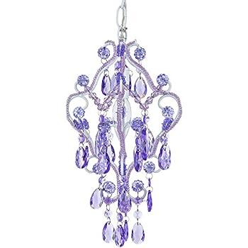 Tiffany mini lavender purple 1 light chandelier small crystal tiffany mini lavender purple 1 light chandelier small crystal beaded plug in swag nursery aloadofball Gallery