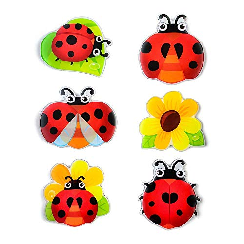 Ladybug Magnets for Refrigerator 3D Cute Flowers Decorative Magnets Fun Fridge Magnets Set Funny Decoration Lockers Office Whiteboards Accessories etc Suitable for Kids Toddlers and Adults