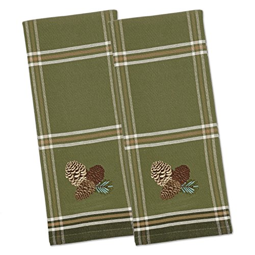 (DII Cotton Embroidered Dish Towels, 18x28
