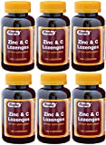Zinc 15mg and Vitamin C 30mg as (Ascorbic Acid) Dietary Supplement Lemon Flavor 100 Lozenges per Bottle Pack of 6 Bottles 600 Lozenges Review