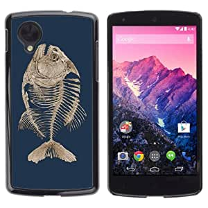 YOYOSHOP [Fishbone Fish Skeleton] LG Google Nexus 5 Case