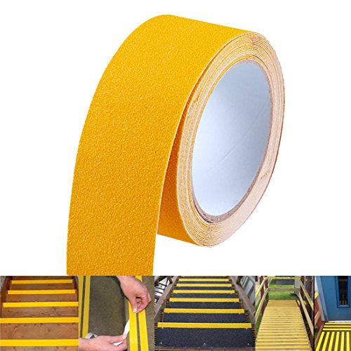 EONBON Yellow Anti Slip Tape, Non Slip Stair Tape, Anti Skid Tape Outdoor , Safety Grip Tape For Steps , Tread Tape - 2 inch x 10 Meter (32.8 Feet) by EONBON (Image #5)