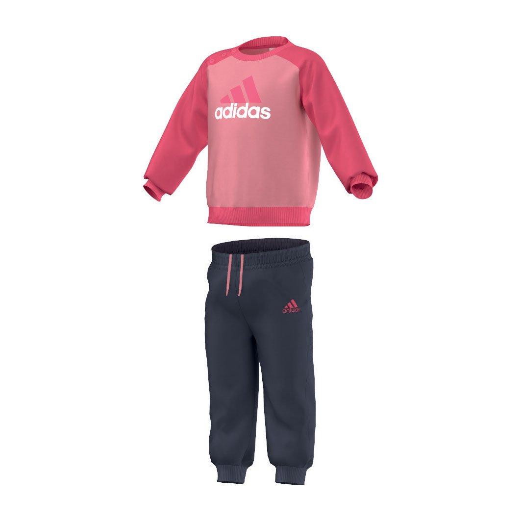 adidas Baby Jogginganzug Infants Logo Pink/Blau 62 AB6912