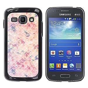 iKiki Tech / Estuche rígido - Purple Orange Pink Abstract Sun - Samsung Galaxy Ace 3 GT-S7270 GT-S7275 GT-S7272