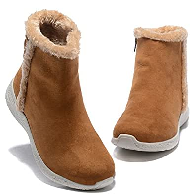Amazon.com | Womens Warm Snow Boots Outdoor Fur Lining