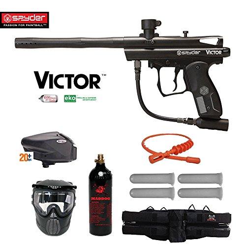 MAddog Spyder Victor Gold Paintball Gun Package - Black ()