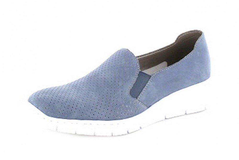 Rieker Damen 537a5 Slipper  36 EU|Blau