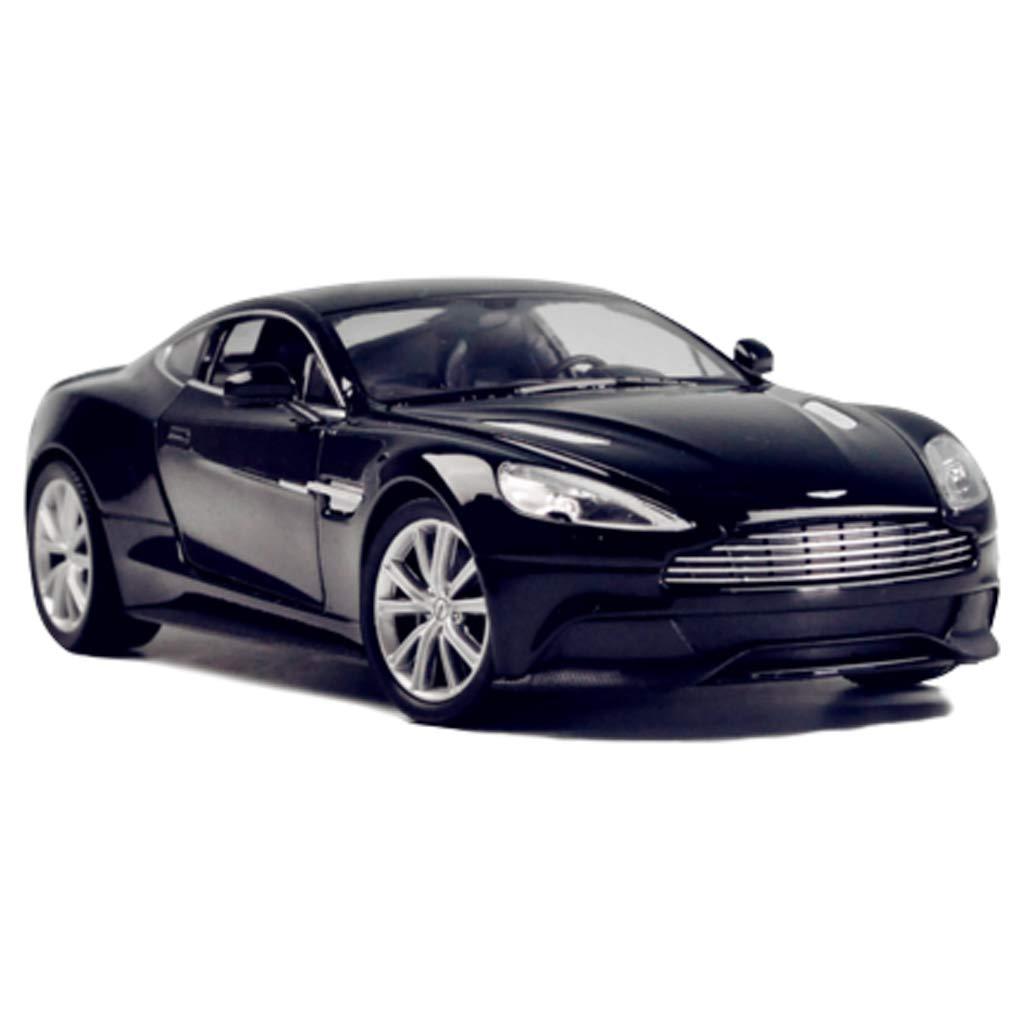 Noir 19cm8cm7cm GAOQUN-TOY Modèle en Alliage de Simulation de Voiture de Sport au 1 24 Aston Martin V12 Vanquish (Couleur   Bleu, Taille   19cm8cm7cm)