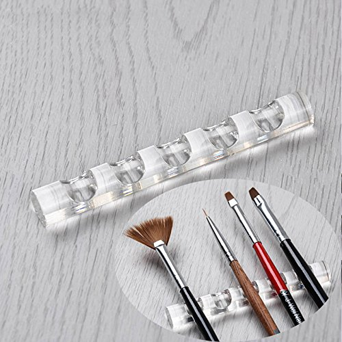Indexu Clear Acrylic Nail Brush Holder Stand Art Drawing Painting Brush Pen