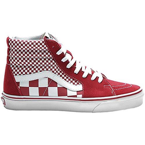 Vans Mens U SK8 HI Mix Checker Chili Pepper White Size 6.5