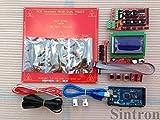 3D Printer Kit - Sintron] 3D Printer Kit, Ramps 1.4 + Mega 2560 + 5pcs A4988 Stepper Driver w/Heatsink + LCD 12864 Smart Controller + 3 Pcs End Stop + Mk2b Heat Bed + 2 Pcs Pulley + 2m Gt2 Belts for Reprap Prusa i3