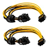 6 pin to 2 x PCIe 8 (6+2) pin Graphics Card PCI-e Express VGA Splitter Power Extension Cable(2 Pack)