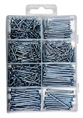 Get your DIY woodworking projects and carpentry tasks done in a snap with this complete nail set! - Tired of using cheap nails that bend or break easily?  - Looking to keep your brad nails organized in a safe place?  - Been searching for nai...