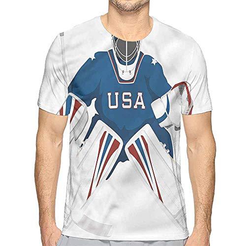 Jinguizi Funny t Shirt Sports,USA Hockey Goalie