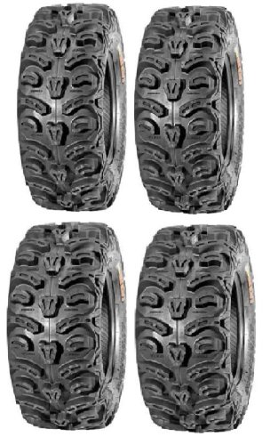 Small Bear Claw - Full set of Kenda Bear Claw HTR Radial (8ply) 27x9-12 and 27x11-12 ATV Tires (4)