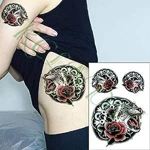 4pcs Impermeable Etiqueta engomada del Tatuaje alas del ángel del ...