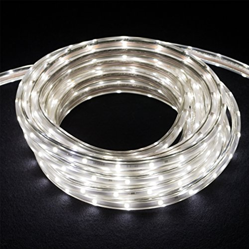 0-TL60-32.8-WH 120-volt 5000K LED Tape-Rope Hybrid Lighting Kit with 5-Feet Cord and Mounting Hardware, 32.8-Feet, Bright White ()