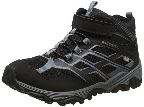Noir Chaussures Garçon C Merrell Randonnée Black M Mid A de WTRPF FST Moab Hautes ww7q0fRS