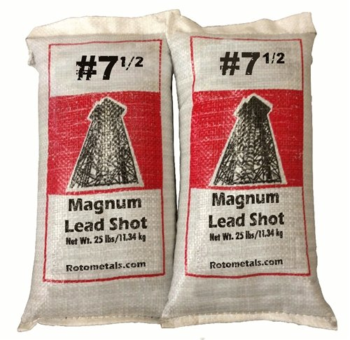 Magnum Lead Shot #7.5 50 pounds 2-25 Pound Bags by Roto Metals