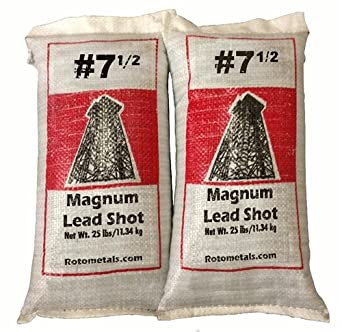 Magnum Lead Shot 7 5 50 Lbs 2 25 Pound Bags Lead Metal