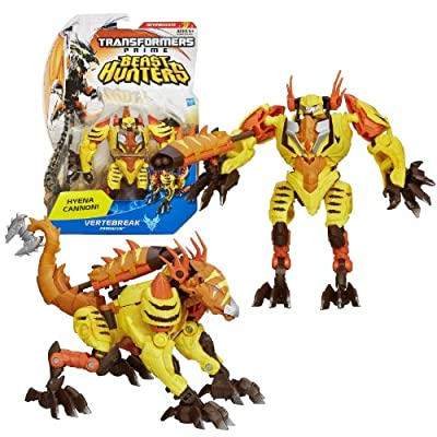"Hasbro Year 2012 Transformers Prime ""Beast Hunters"" Series 2 Deluxe Class 6 Inch Tall Robot Action Figure - #014 Predacon VERTEBREAK with Hyena Cannon and Missile (Beast Mode: Hyena)"