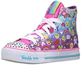 Skechers Kids Shuffles - Chat Time Sneaker (Little Kid), Emoji Multi, 13.5 M US Little Kid