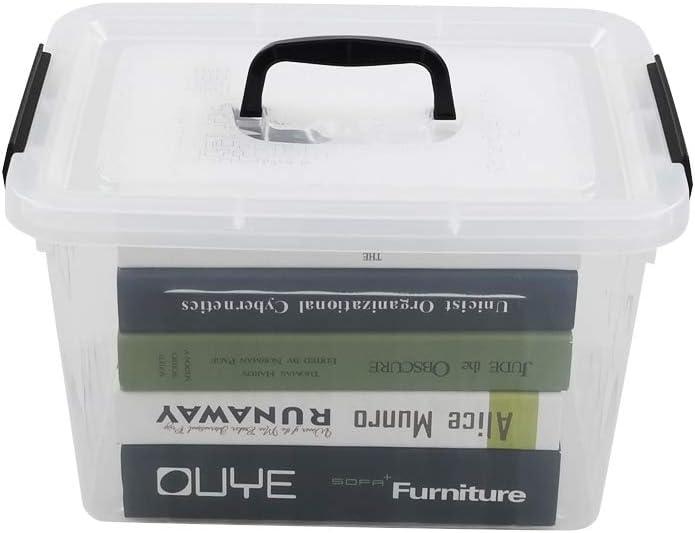 Zerdyne Clear Plastic Latching Box, Plastic Storage Bin with Lids, 10 L