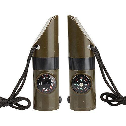 Flexzion Emergency Thermometer Magnifier Flashlight
